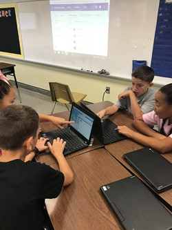 Students work together on a project