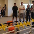 Students compete at a Robotics competition