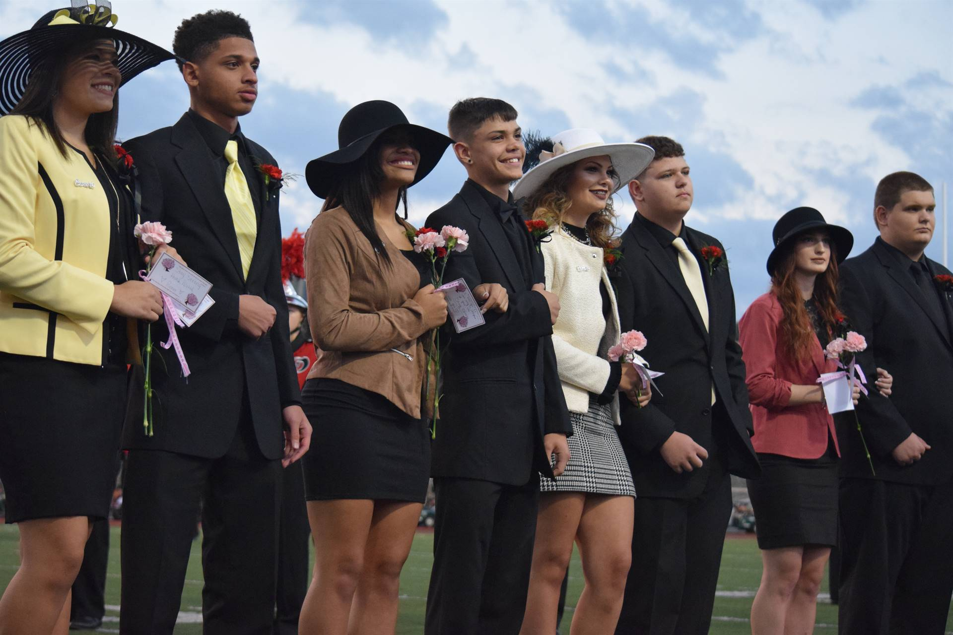 Members of the 2017 Homecoming Court