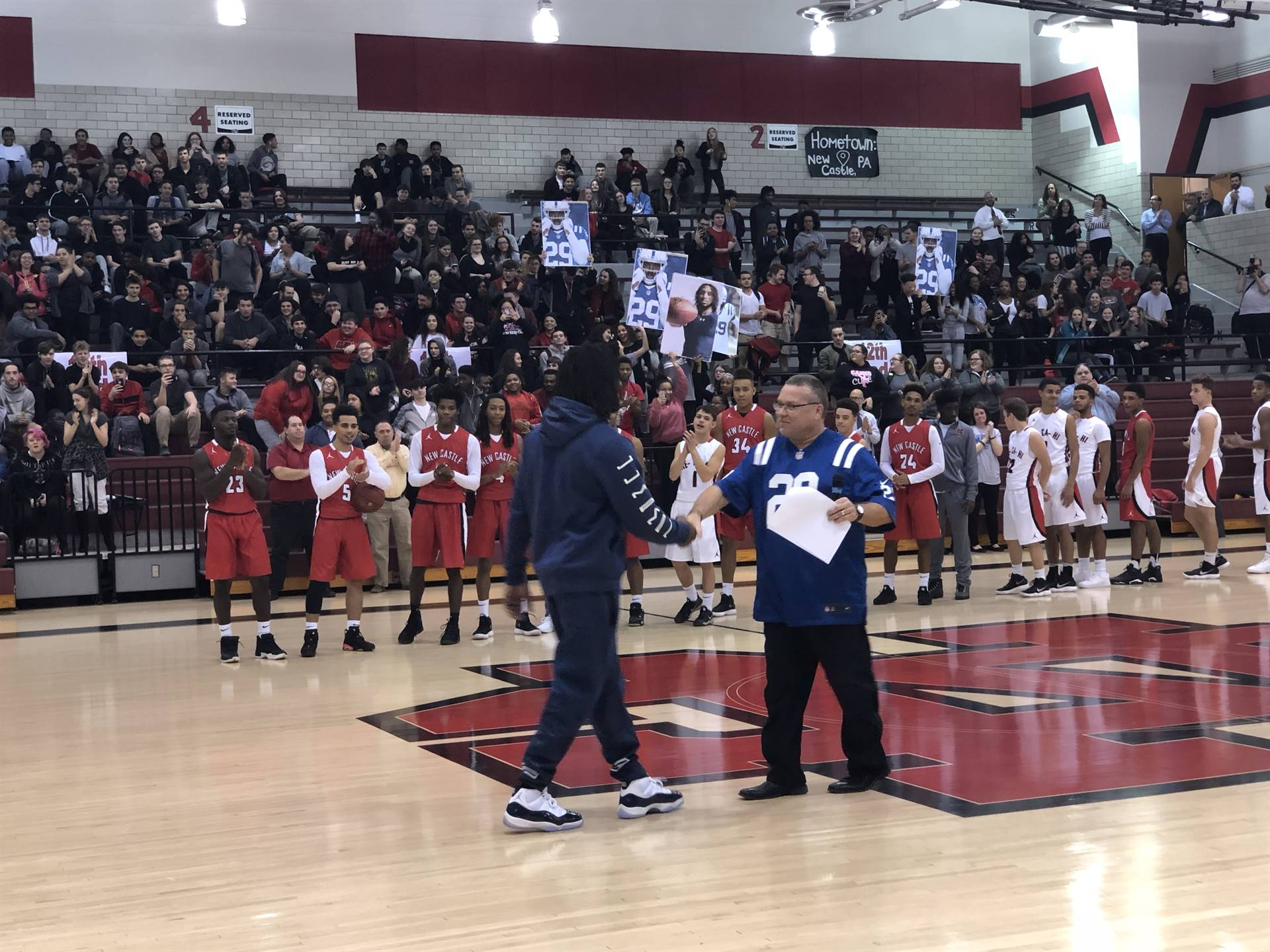 Mr. Litrenta welcomes Malik to the court