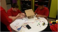 Students work in the Maker Space on STEAM projects