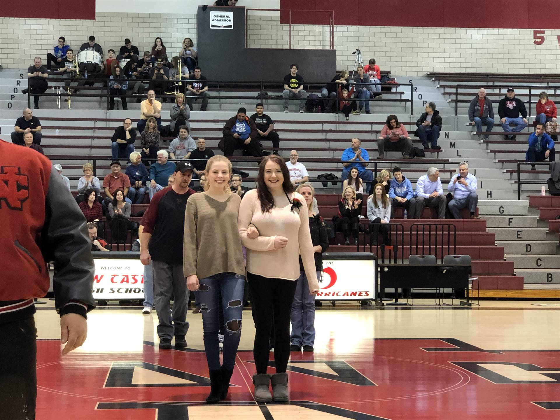 Kelly Green, escorted by Allie Hunkele