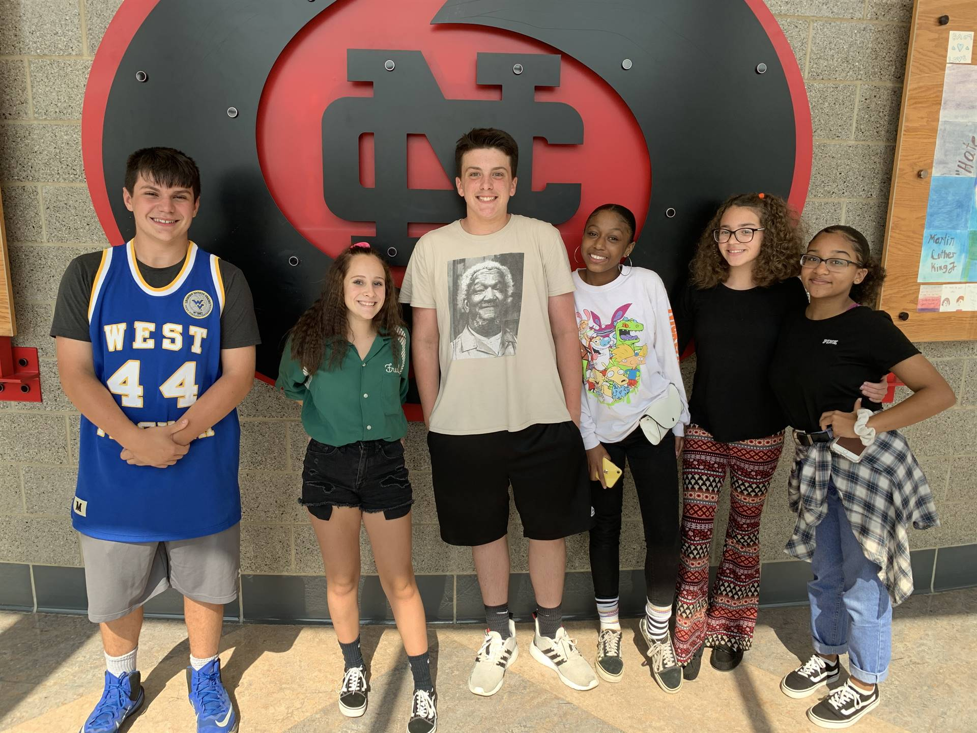 students in throwback clothing
