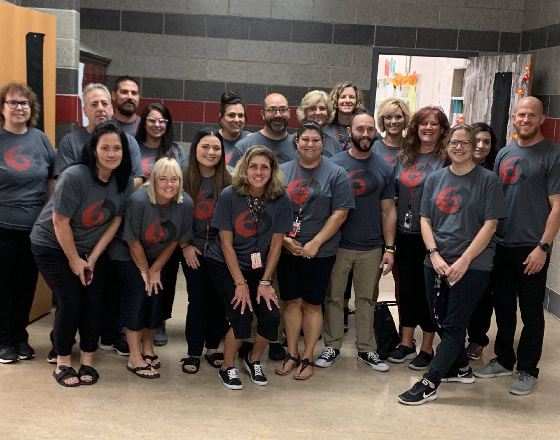 6th Grade Teachers Participating in Flock Day