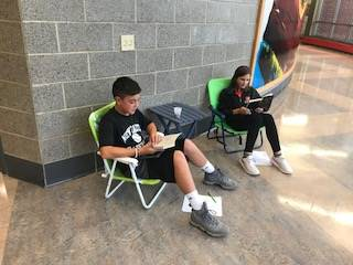 Relaxing & Reading in 6th Grade