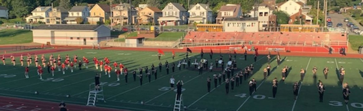 NCASD band and Candy Canes performance at Taggart Stadium